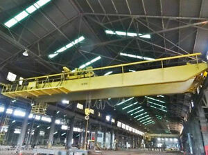 40 Ton X 60 P H Double Girder Top Riding Overhead Bridge Crane
