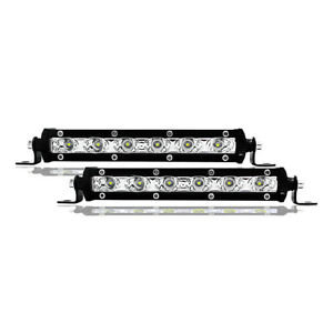 2pcs 18w 7inch Cree Led Work Light Bar Flood Suv Boat Driving Lamp Offroad 4wd