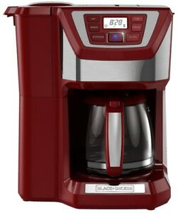 BLACK+DECKER CM5000R 12-Cup Mill and Brew Coffee Maker Red FREE SHIPPING