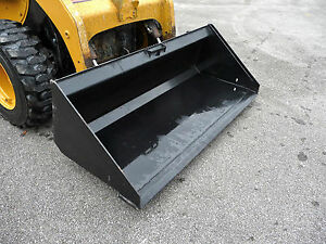 Bobcat Cat Gehl Skid Steer Attachment 72 Low Profile Smooth Bucket Ship 199