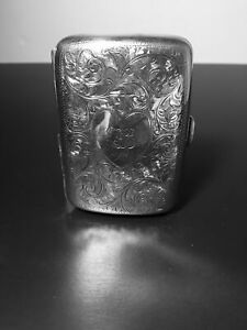 English Sterling Silver Cigarette Case By William Hair Haseler