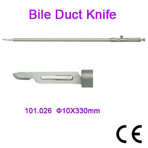 Brand New Bile Duct Knife 10x330mm Laparoscopy Ce Approved Surgery Tool