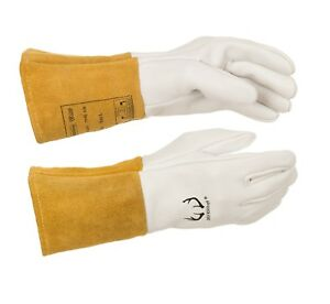 Weldas Deersosoft Pearl Grain Deerskin Welding Mig tig Glove Made With Kevlar