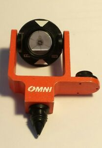 Used Omni Jr Mini Prism 25 4mm With Aluminum Housing Side Bubble