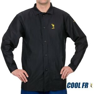 Weldas Cool Fr Welding fire Retardant dielectric Jacket Cotton Navy Blue