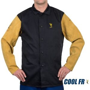 Weldas Cool Fr Welding fire Retardant dielectric Jacket Cotton And Leather