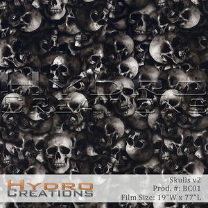 Hydrographic Film For Hydro Dipping Water Transfer Film Skulls V2 19 X 77