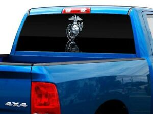 P479 Usmc Marines Rear Window Tint Graphic Decal Wrap Back Pickup Graphics