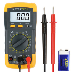 Digital Multi Meter Amp Voltmeter Tester Testing Extra Cable Lead Probe Battery