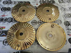 Luxor Wire Dna Wheels 24k Gold Bolt On Plate Pan Set Of 4