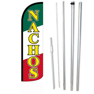Nachos Wide Windless Swooper Flag Bundle