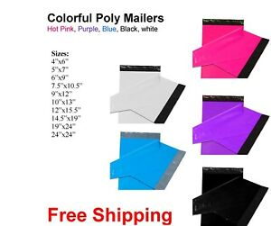 All Sizes Poly Mailer Shipping Mailing Bag Envelopes Polybag Polymailer Color