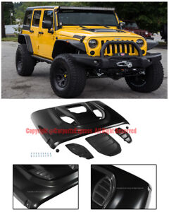 Tc Sport Style Metal Front Bumper Hood Vent Scope For 07 Up Jeep Jk Wrangler