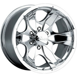 15x8 Pacer 187p Warrior Polished Wheels Rims 19 5x4 50 Qty 4