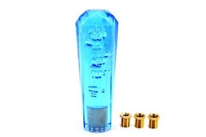 Universal Vip 150mm Transparent Manual Blue Diamond Crystal Bubble Shift Knob