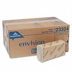 Envision Folded Paper Towels Multifold 9 2 X 9 4 Brown new 16 pack 8 Packs