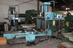 4 Wotan Table Type Horizontal Boring Mill Drilling Milling Machining