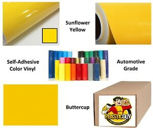 Sunflower Yellow Self adhesive Sign Vinyl 15 X 165 Ft Or 55 Yd 1 Roll