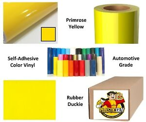 Primrose Yellow Self adhesive Sign Vinyl 15 X 165 Ft Or 55 Yd 1 Roll