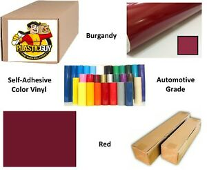 Burgandy Red Self adhesive Sign Vinyl 15 X 150 Ft Or 50 Yd 1 Roll