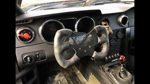 One Off Racing Carbon Fiber Steering Wheel Bow Tie Shape Momo Sparco Very Lite