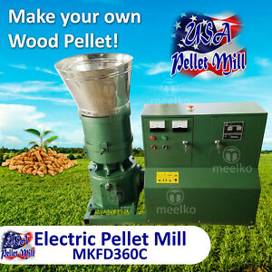 Electric Pellet Mill For Wood Mkfd360c Free Shipping