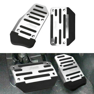 2x Universal Racing Sports Non Slip Automatic Car Gas Brake Pedals Pad Cover
