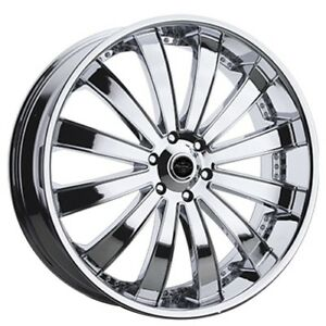 4 Pcs 22x8 5 Versante Wheels Ve225 Chrome Rims