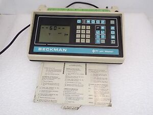 Used Beckman Phi 71 Ph Meter Chemistry Analyzer