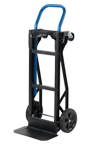 Hand Truck Moving Dolly Cart 2 in 1 400 Lb Lightweight 4 Wheel Steel Platform
