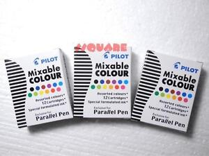 tracking No 12 Boxes X Pilot Ink Cartridges For Parallel Pen Assorted Colors