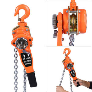 0 75 1 5 3ton Lever Chain Block Hoist Lift Puller Ratchet Lifting Hand Tools
