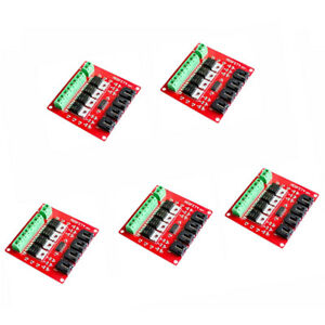 Magideal 5pcs 4 channel Switch Module Mosfet Button Irf540 V2 0 For Arduino