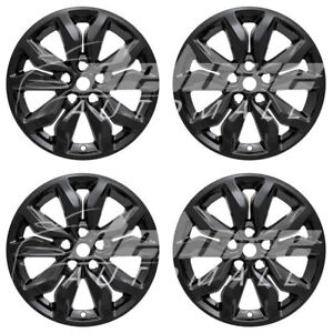 18 Black Wheel Skins Hubcaps 4 Pcs For 2016 17 2018 2019 Chevrolet Impala