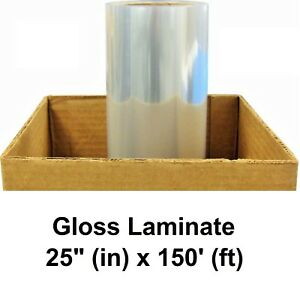 Gloss Clear Self adhesive Pvc Protective Laminate 3yr Vinyl Roll 25 X 150