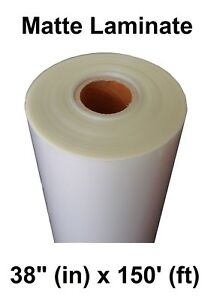 Any Purpose Clear Laminating Cold Matte Laminate Film Vinyl Roll 38 X 150