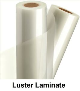 Any Purpose Clear Laminating Cold Luster Laminate Film Vinyl Roll 51 X 150