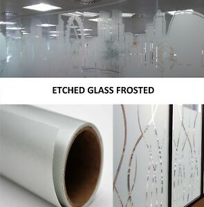 Etch glass Clear Self adhesive Cold Vinyl 3mil Laminate Film Roll 24 X 150