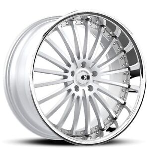 4rims 20 Staggered Xo Wheels X130 New York Silver Rims Fh