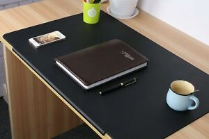 Lohome Desk Pads Artificial Leather Laptop Mat With Fixation Lip Perfect Des