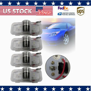 4 Set Led Car Door Step Welcome Light Front Rear Left Right Fits Honda 5w Pc
