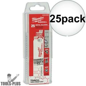 Milwaukee 48 00 8784 18tpi 6 Torch Double Duty Sawzall Blades 25 Pack New