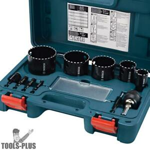 Bosch Tools Hdg11 11 Piece Diamond Hole Saw Kit New