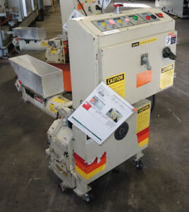 Ball And Jewell Haf 68 scsx Plastic Granulator With Auger Feeder Tested Good