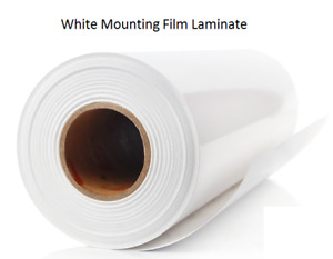 1mil White Opaque Self adhesive Pp Film Permanent Mounting 51 X 200 1 Roll