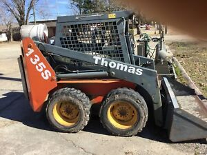 Thomas T135s Series Skid Steer Loader Runs Well No Leaks
