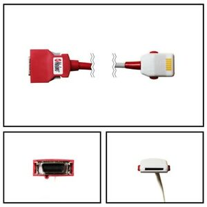 Masimo Set 2060 Red Pc 12 12 Spo2 Patient Extension Cable Lnop F tab Red 20 Pin