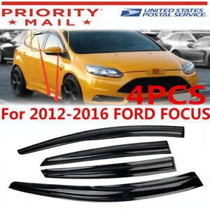For Ford Focus 2012 2016 13 14 15 4door Seden Window Visor Sun Vent Rain Guard