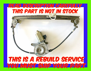 1989 1995 Lotus Elan M100 Window Regulator Rebuild Service Lifetime Warranty