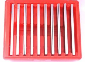 New 1 8 Steel Parallel Set 10 Pair Parallels 0002 Hardened Usa